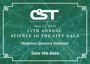 Save the date for our Science in the City Gala 2020